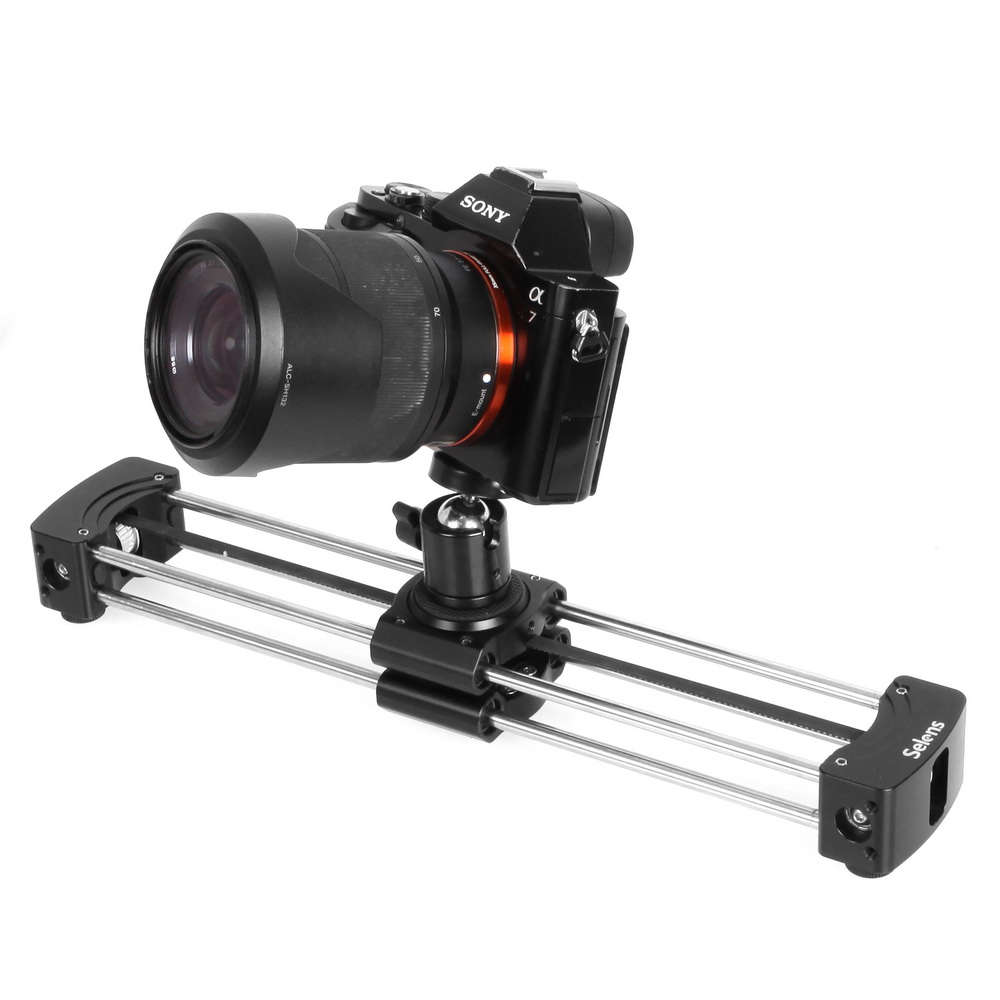 Selens 33cm Mini Aluminum Camera Video Track Dolly Slider Rail System For Nikon Canon DSLR Camera DV Movie Vlogging Gear