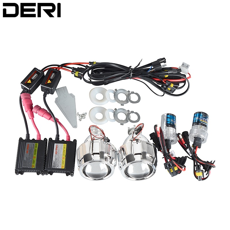 2.5 Inch 35W LHD RHD Bi-xenon HID Projector Lens With Black Silver Shrouds H1 H4 H7 Motorcycle Auto Car Headlight Kit 6000K new m803 2 5 car motorcycle universal headlights hid bi xenon projector kit and m803 hid projector lens for free shipping