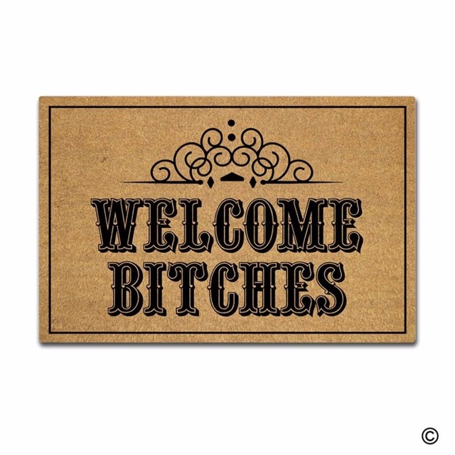 decorative rubber floor mats. Perfect Mats Rubber Doormat For Entrance Door Floor Mat Welcome Bitches Indoor Outdoor  Decorative Entry Way To Mats