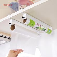 Кухня пищевая оберточная бумага Полотенца висит держатель дверь шкафа ткани вытирая Бумага Organier стирка ткань для хранения вешалка полка