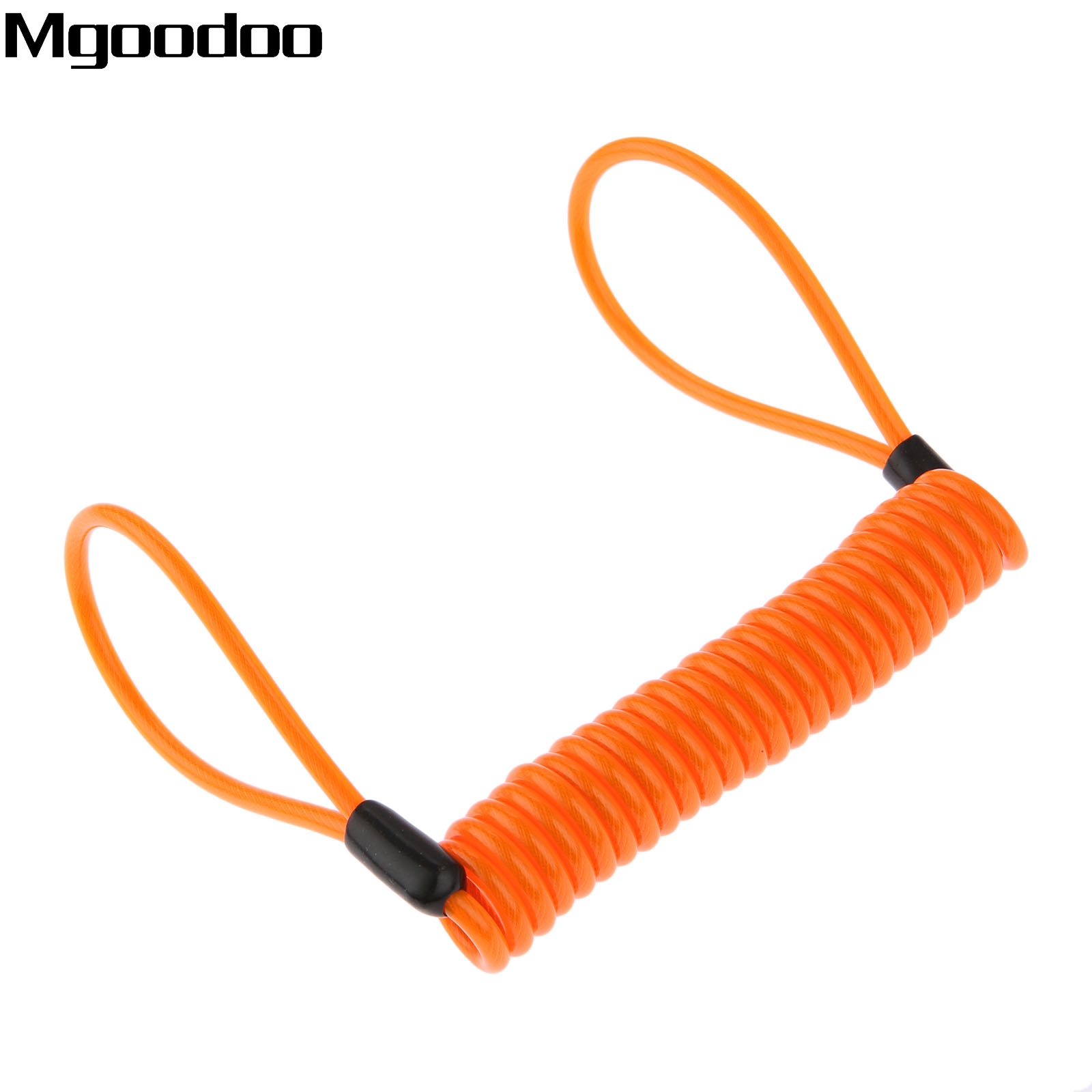 1.5m Cable Bicycle Lock Rope Helmet Wire Anti-theft Protect Rope Motorcycle Motorbike Disc Lock Security Reminder Lanyard Spring