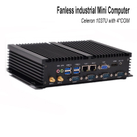 Hot sale mini pc celeron 1037u with USB 3.0 Dual Gigabit Lan 4 COM HDMI Auto Boot Support XP windows 7 linux