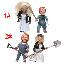 NECA 2 pçs/set CHUCKY Chucky figura Bons Filmes e a Noiva de Chucky Chucky Boneca PVC Action Figure Model Collection brinquedo(China)