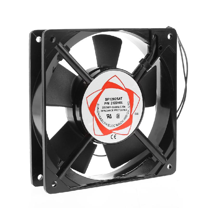 120*120*25mm Sleeve Bearing ABS/Metal 220-240V AC 2-Wire Cooling Fan Cooler Radiator, Cooler AC Cooling Fan For Computer for asus u46e heatsink cooling fan cooler