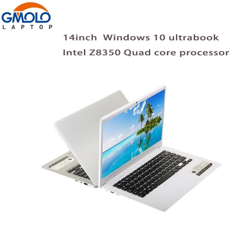 Gmolo 14-дюймовый ультрабук ноутбуки Intel X5 z8350 четырехъядерный процессор 2 г/4 г Оперативная память 32 г/ 64 ГБ EMMC HDMI камеры Оконные рамы 10 ноутбук