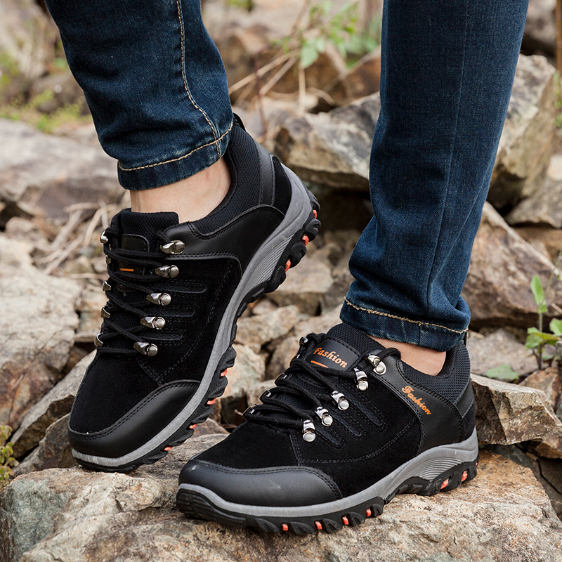 Outdoor Waterproof Men Walking Shoes Nonslip Mens Sports Shoes Cozy Running Shoes Rock Sneakers Military Training Tactics Shoes