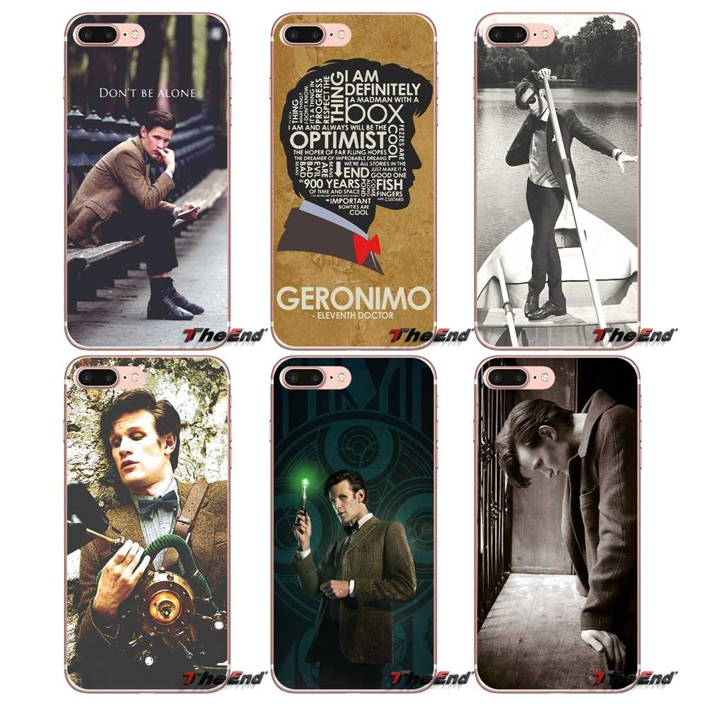 Dr Who 11th Doctor Matt Smith Penawaran Kasus Untuk iPhone X 4 4 S 5 5 S 5C SE 6 6 S 7 8 Plus Samsung Galaxy J1 J3 J5 J7 A3 A5 2016 2017