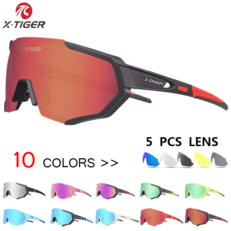 5 Pieces POC Sunglasses Polarized Cycling Glasses Mens Womens Sports Glasses Top