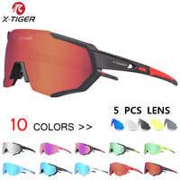X-TIGER gafas de ciclismo polarizadas para deportes al aire libre gafas de bicicleta de montaña gafas de sol para hombres y mujeres gafas de ciclismo gafas