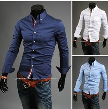 2017 осенняя мода отказаться воротник мужской хлопок бизнес случайный рубашки с длинным рукавом маленький цветок платье рубашка бесплатная доставка