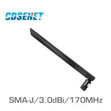 2 adet/grup Esnek 170MHz Vhf kırbaç anten CDSENET TX170 JKD 20 3.0dBi Kauçuk Antenler Iletişim Wifi Anten