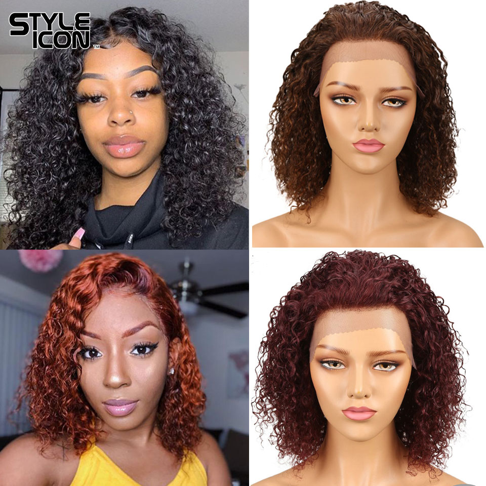 New Arrival Wet And Wavy Human Hair Wig 100% Wet And Wavy Wig 150% Density Lace Frontal Hair Wigs Colors #2 4 99J F2-33 P4-30