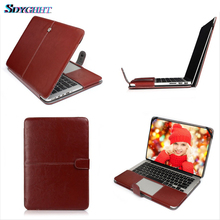 Hot Business Holster PU leather Bag Case For Apple MacBook Air Pro Retina 11 12 13.3 15.4 2018 New Pro 13 15 inch with Touch Bar