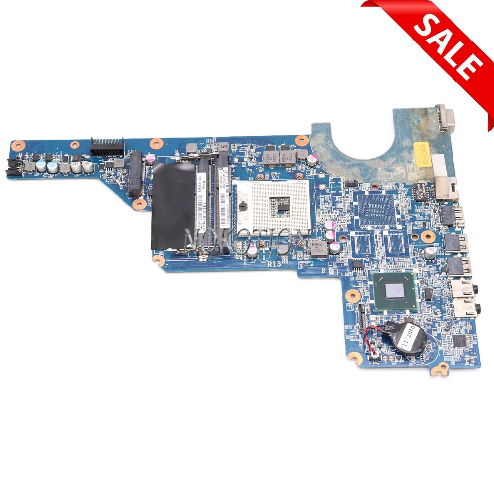 NOKOTION 636373-001 LAPTOP MOTHERBOARD for HP PAVILION G4 G7 INTEL HM65 GMA HD DDR3 Mainboard nokotion 646176 001 laptop motherboard for hp cq43 intel hm55 ati hd 6370 ddr3 mainboard full tested