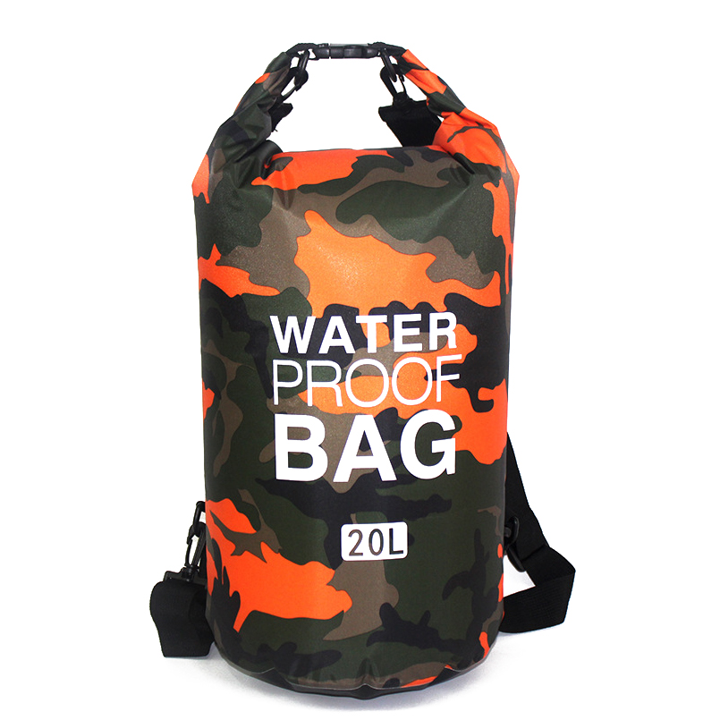 5L/10L/20L Outdoor Camouflage Waterproof Dry Bags Portable Rafting Diving Dry Bag Sack PVC Swimming Bags for Outdoor Sport Bags
