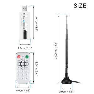 Image 4 - Kebidumei USBทีวีดิจิตอลDVB T2 USB TV Stick Tuner HD TVเครื่องรับสัญญาณเสาอากาศระยะไกลสำหรับDVB T2/DVB C/FM/DAB