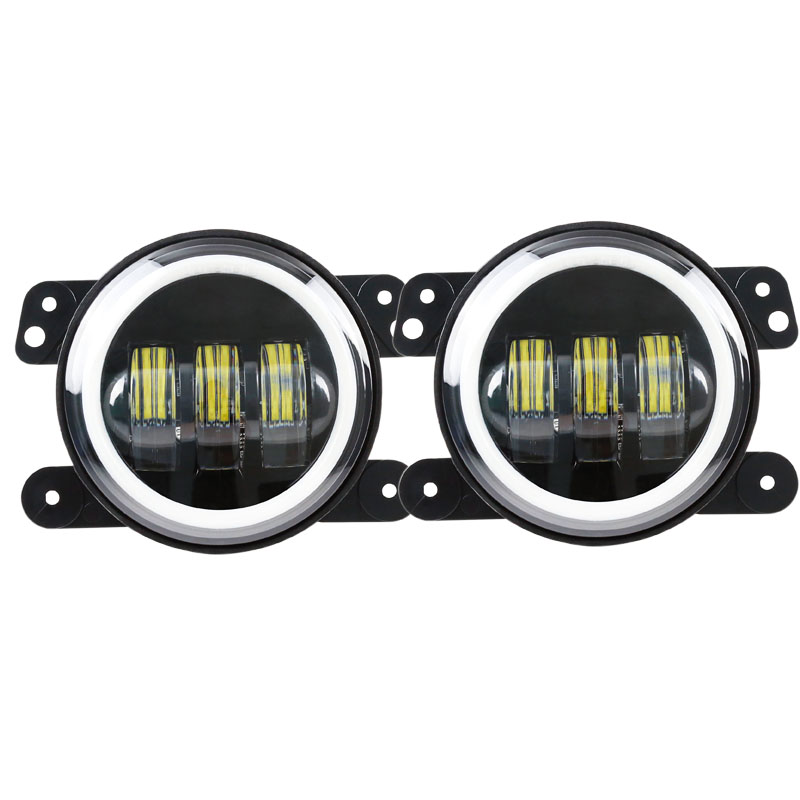 4 Inch 60W C ree LED fog Lights Halo Ring Angel Eyes For Jeep Wrangler 97