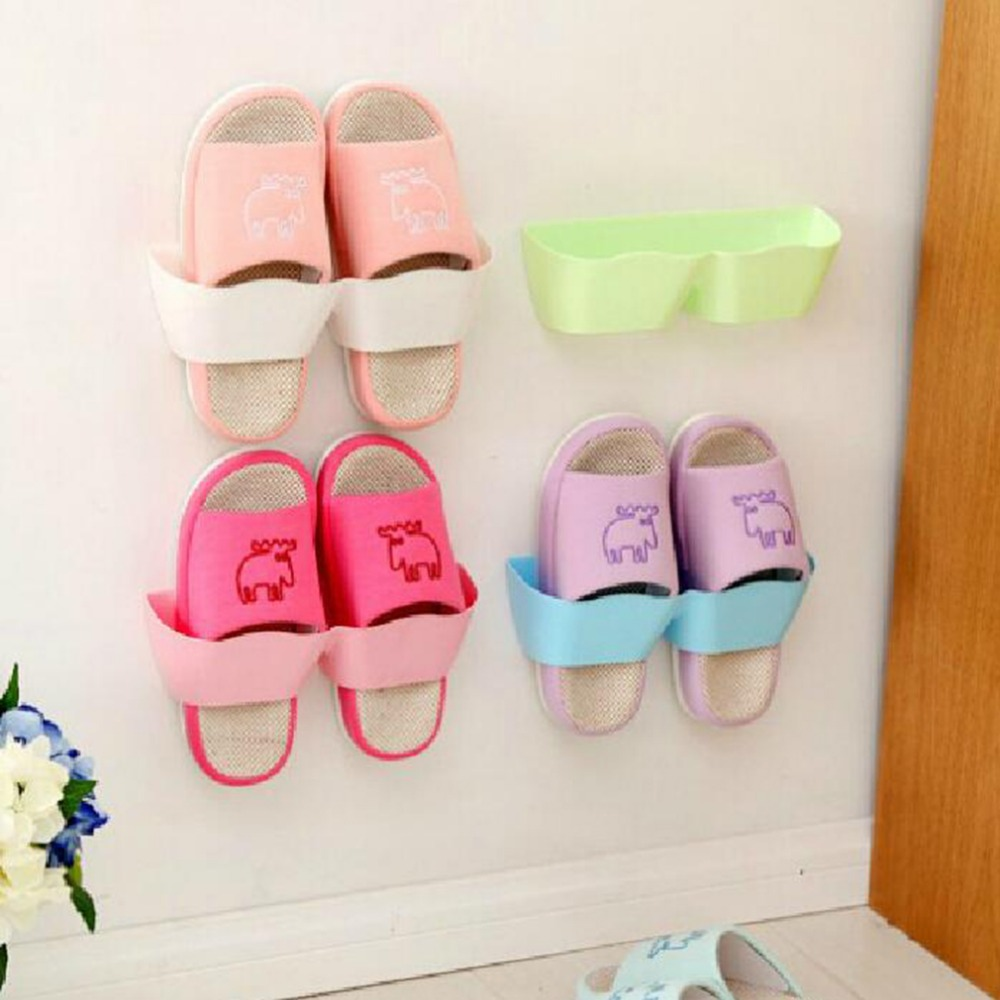 1 PCS Waving Wall Mounted Shoe Rack Storage Stereo Rack Living Room Bathroom