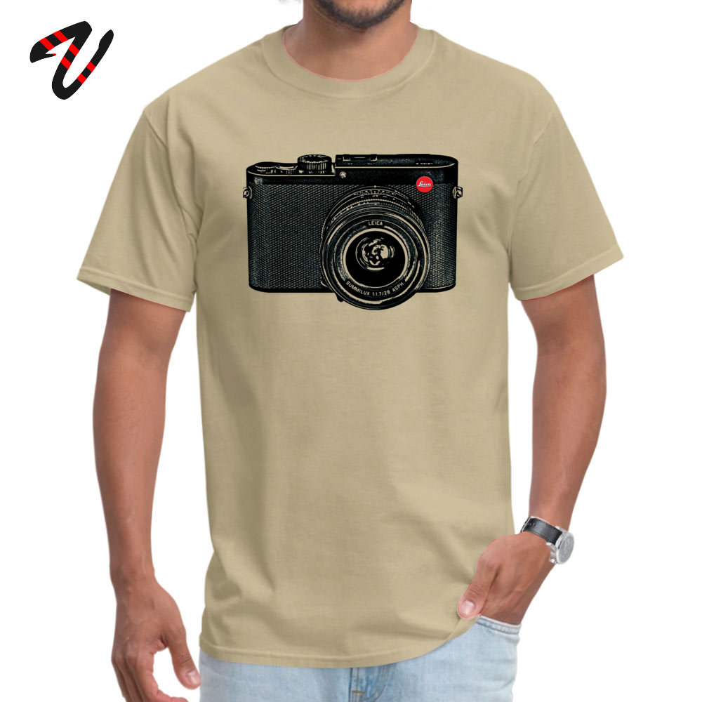 American Shorthair happy Fashion Men Top T-shirts O-Neck Short Sleeve 100% Cotton Tees Casual Clothing Shirt Top Quality American Shorthair happy 7279 beige