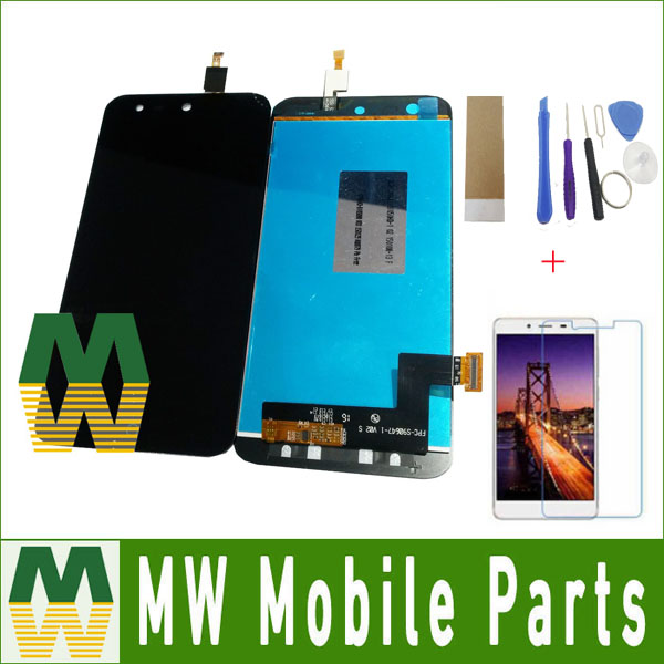 Black Color 1PC / Lot For <font><b>ZTE</b></font> Blade X5 /Blade D3 <font><b>T630</b></font> LCD Display LCD Sreen +Touch Screen Touch Digitizer Assembly with Free Kit image