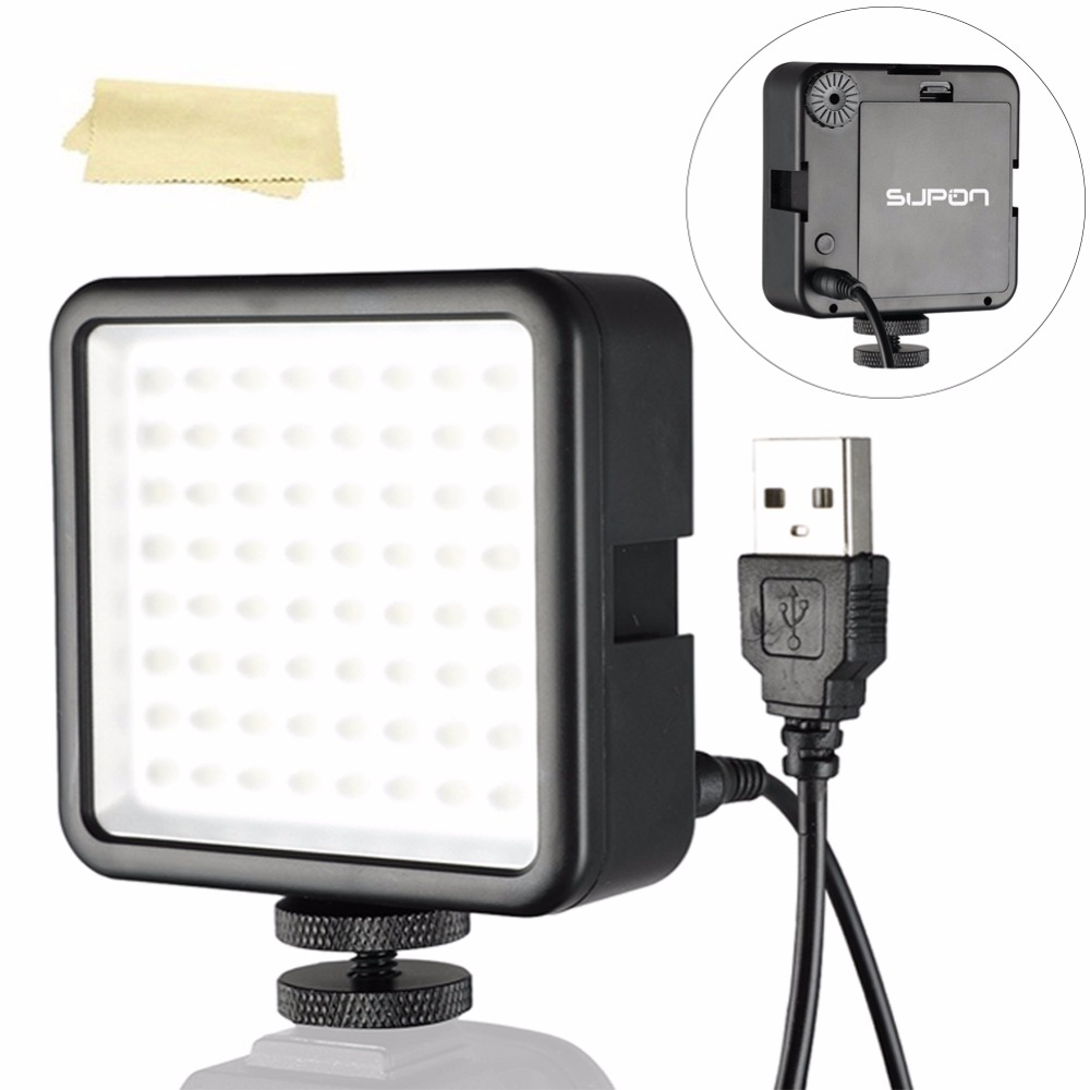 SUPON 64 LED Photo Video Light Photo Lighting on Camera Hot Shoe LED Lamp for Iphone Camcorder Live Stream photography lightingSUPON 64 LED Photo Video Light Photo Lighting on Camera Hot Shoe LED Lamp for Iphone Camcorder Live Stream photography lighting