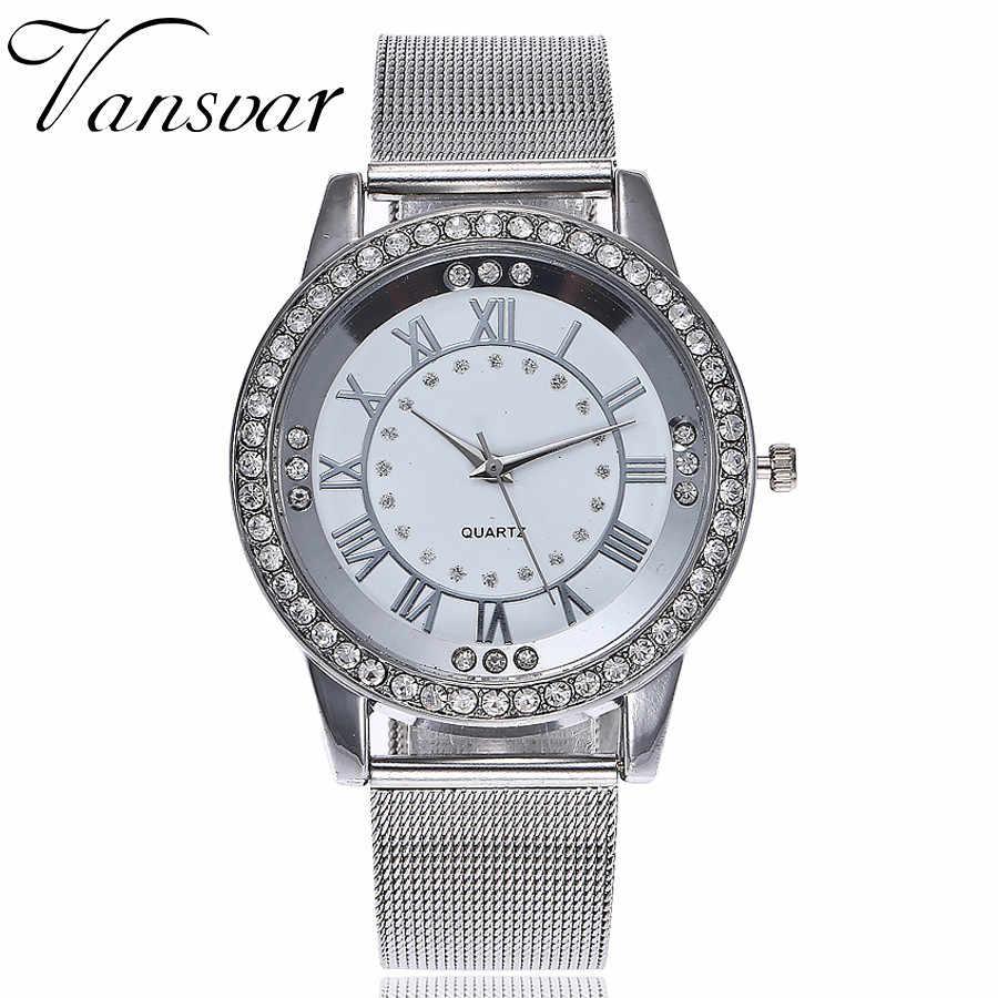 Vansvar classique luxe strass montre femmes montres mode dames montre femmes montres horloge Relogio Feminino Reloj Mujer