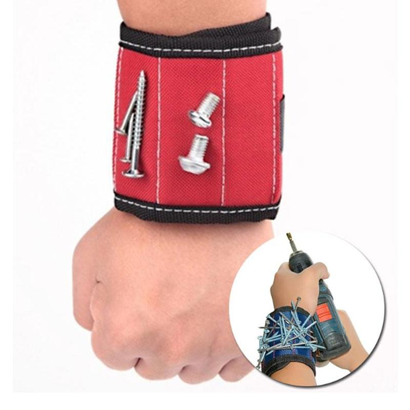 13.8'' Wrist Support Band Tool Belt Bracelet Screw Kit Magnetic Wristband trainers fitness strong Chuck wrist massager