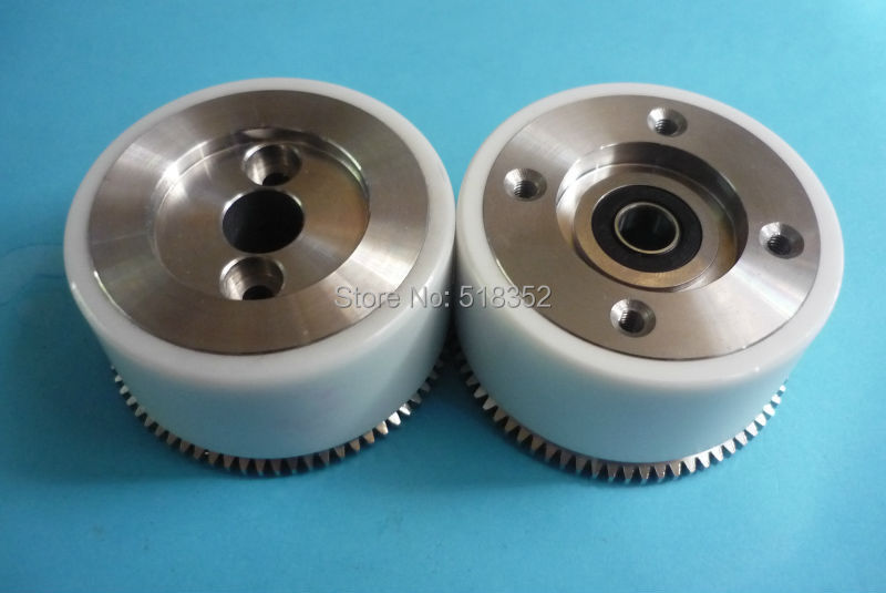 M409 M410 Mitsubishi White Ceramic Pinch Roller Assembly Set with Bearing and Gear for WEDM LS Wire Cutting Wear Parts|set|set cut|set gears - title=
