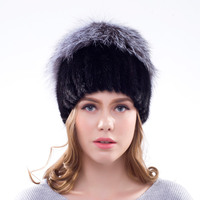 JKP winter real leather mink fur hat autumn and winter women's new hot hat big silver fox fur vest cap fashion hat 2018 DHY18 25