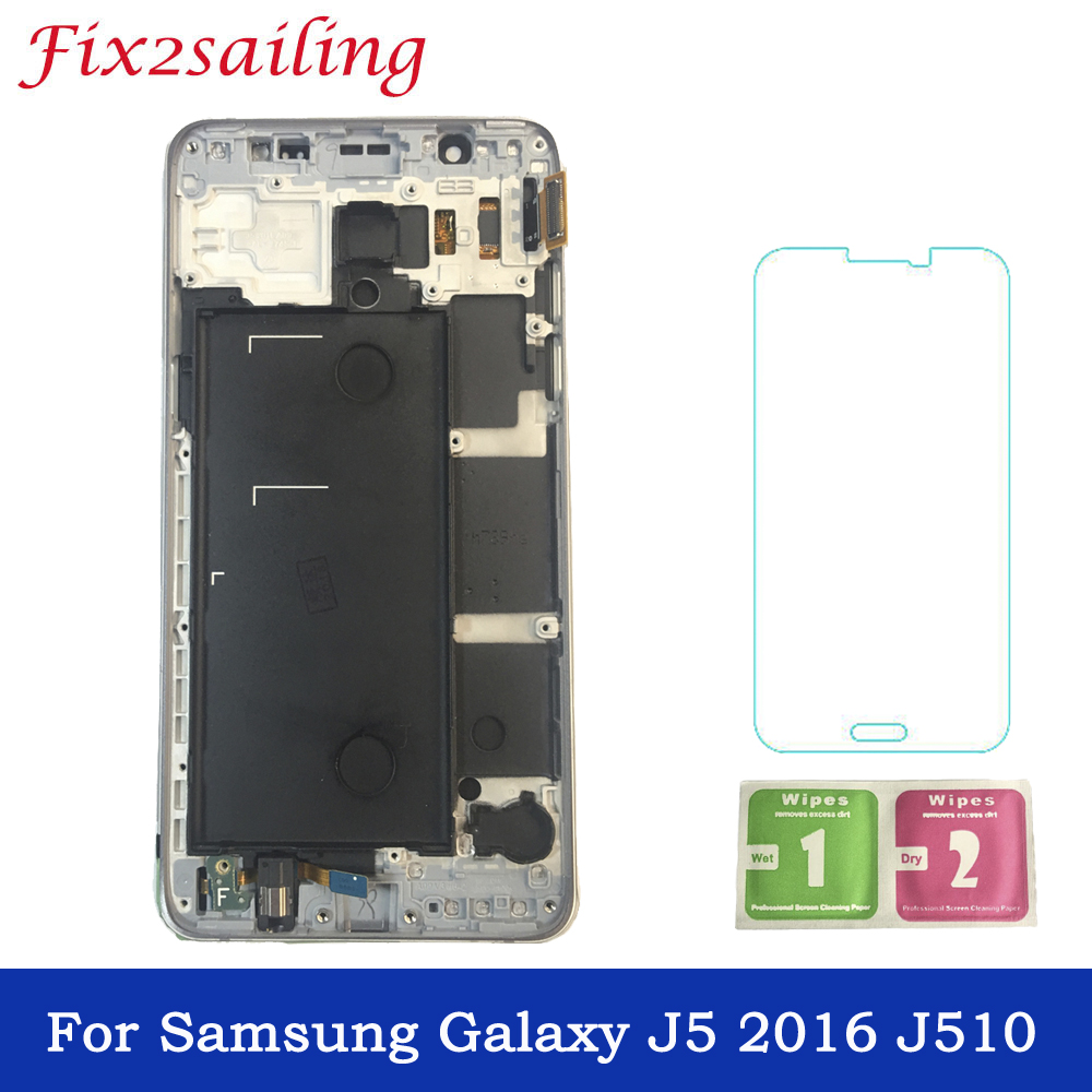 For Samsung Galaxy J5 2016 J5 2016 J510FN J510F J510M J510H /DS LCD Display + Touch Screen Digitizer Assembly With Frame j5 LCDFor Samsung Galaxy J5 2016 J5 2016 J510FN J510F J510M J510H /DS LCD Display + Touch Screen Digitizer Assembly With Frame j5 LCD