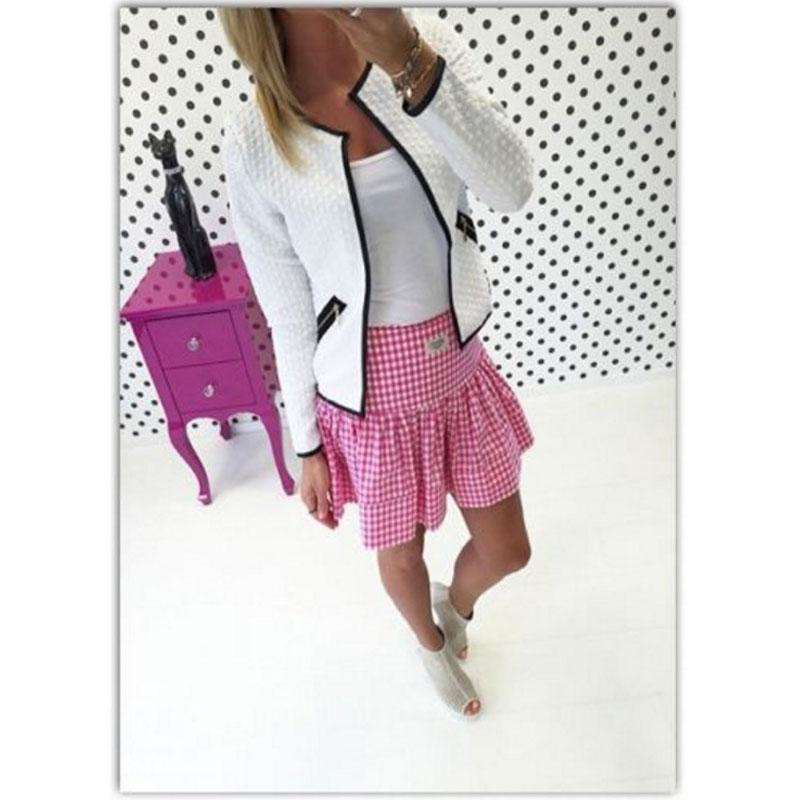 2016 Women Tops New Autumn Women Long Sleeve Lattice font b Tartan b font Cardigan Top