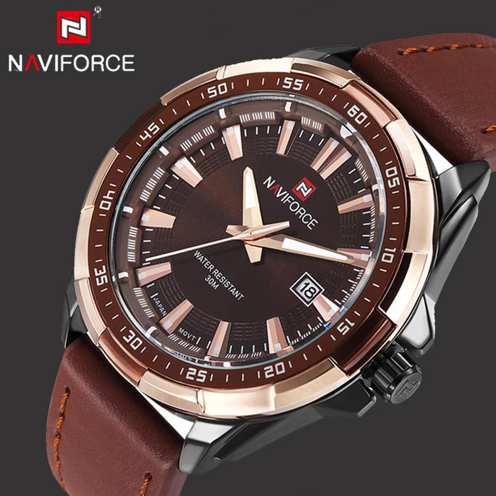 3cede67e110741 Naviforce Montres Hommes Quartz Casual Sport Montre De Luxe Classique Date  Étanche Mâle Hommes de Montre-Bracelet Homme Horloge Relogio Masculino