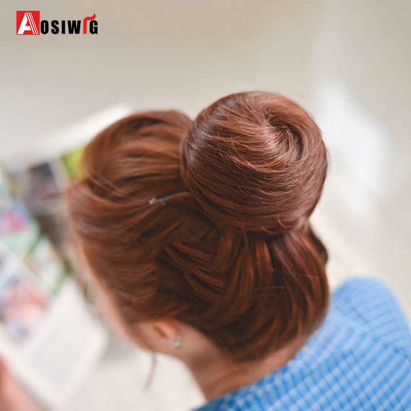 SHANGKE-Short-Straight-Hair-Bun-Heat-Resistant-Synthetic-Hairpieces-Synthetic-Clip-In-Hair-Extensions-Women-Hairstyles (3)