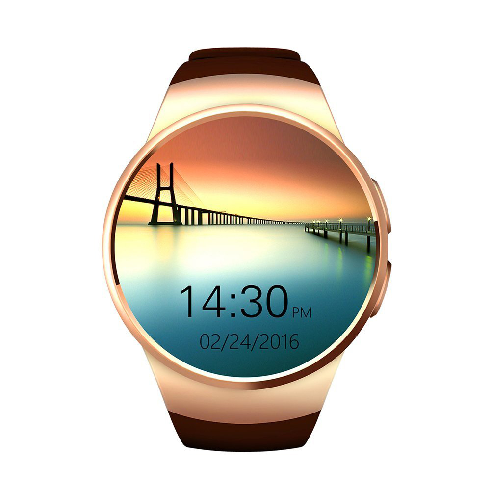 Bluetooth Smart Watch 1.3 inches IPS Round Touch Screen Water Resistant  Phone with SIM Card Slot for IOS Android Device hot sale smart watch charming l6 sim card ips round screen stainless steel bluetooth smartwatch push or ios android phone high