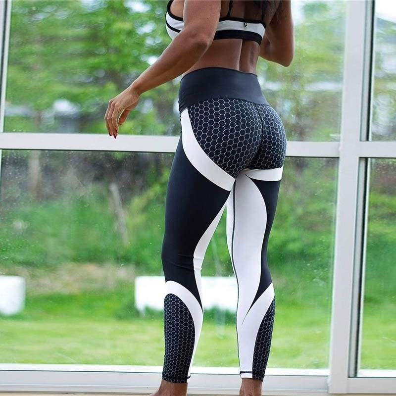 Fitness Leggings Women Mesh Breathable High Waist Sport Legins Femme Workout Legging Push Up Elastic Slim Jogging Pants