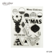Scrapbook DIY Photo Card Account Rubber Stamp Clear Stamp Transparent  Stamp Merry Christmas  11*16CM