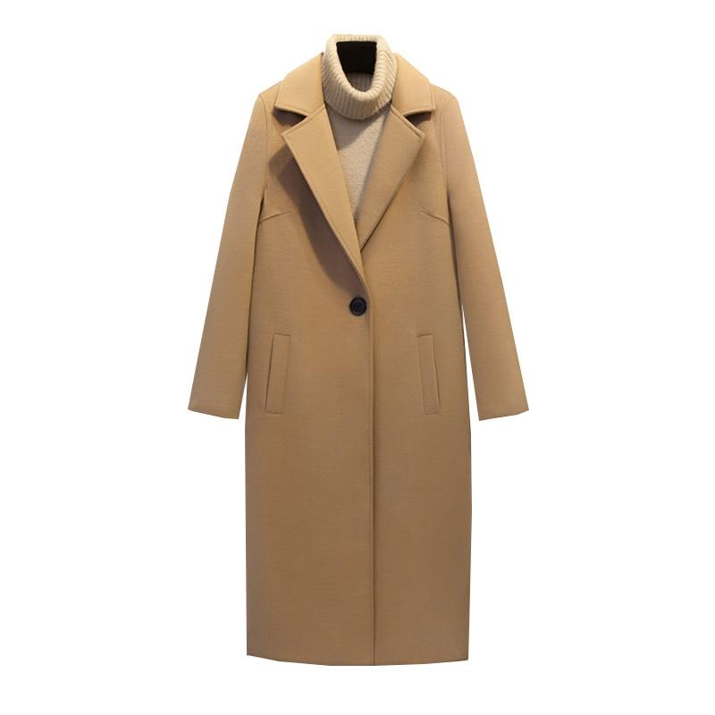Taille Outwear Dames La Mélange Plus Femmes Automne Chameau Longue Solide Lâche Épais Occasionnel Manteau De Casual Hiver Laine 2018 UOqxTxdw