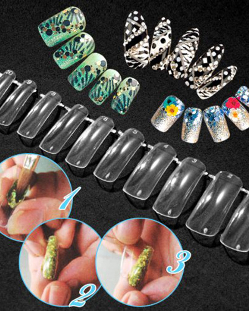 New Dual Nail Art System Form Acrylic False Tips Tools Set Acrylic ...