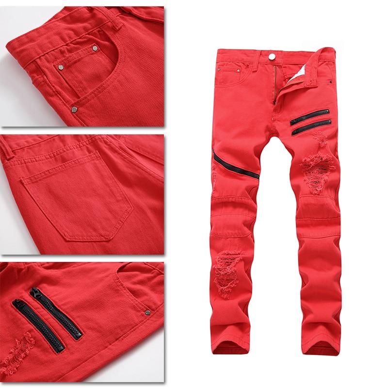 1 Pcs Neue Männer Der Jeans Casual Hosen Einfarbig Stretch Jeans