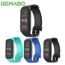 Lemado L38I Bluetooth Smart Браслет Женщины монитор сердечного ритма Цвет ЖК-дисплей Экран Шагомер фитнес-трекер Smart Браслет