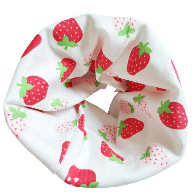 Новинка; Модный хлопковый шарф для маленьких девочек; осенне-зимний шарф для маленьких мальчиков; Детский шарф с круглым вырезом; Детские шарфы; волшебный шейный платок - Цвет: Red Strawberry