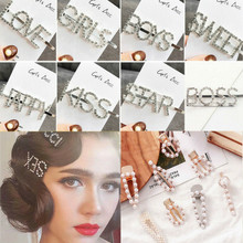 30 Styles Letters Sweet Love Girls Korean Style Capital Alphabet Funny Hairpins Hair Clips Women Accessories