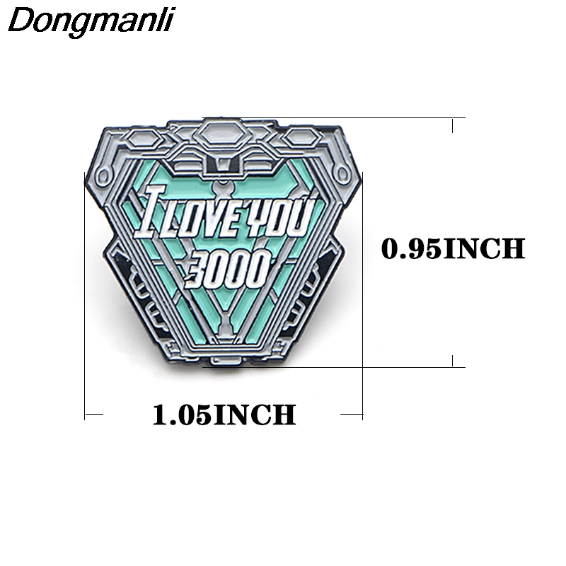 P3806 Dongmanli Fashion Cool Nuclear Reactor Metal Enamel Brooches and Pins Lapel Pin Backpack Badge Collar Jewelry in Brooches from Jewelry Accessories
