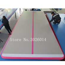 цены на Free Shipping 4M Used Commercial Inflatable Gym Mat Tumble AirTrack Gymnastics Mat Inflatable Air Track For Sale  в интернет-магазинах