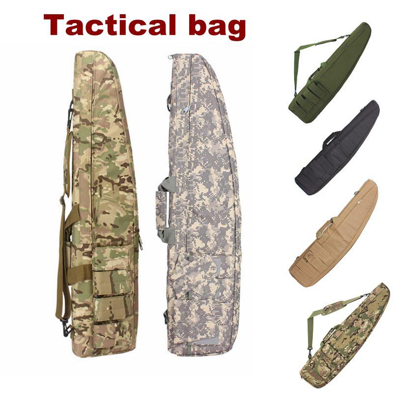 94/118 Cm Tactical Rifle Caso Di Immagazzinaggio Zaino Militare Sacchetto Della Pistola Con Tracolla Imbottita Borse Multiuso Di Trasporto Di Caccia Di Tiro Borsa