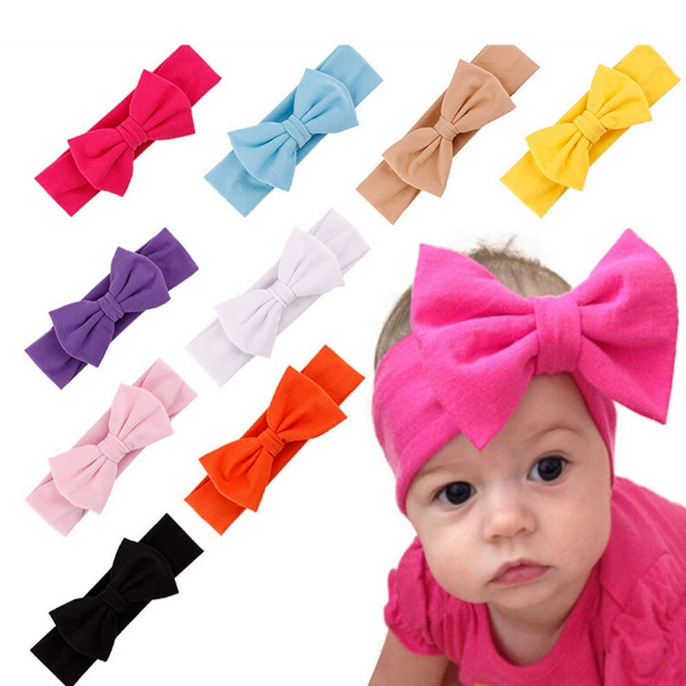 10 Colors 2017 Fancyqube Korean Style Hair Accessories Children Candy-colored Bow European And American Retro Headband