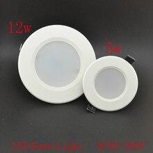 6pcs/lot Led Downlights 5W 12w 110V 220V LED Ceiling Downlight 5730Lamps Led Ceiling Lamp Home Indoor Lighting Free shipping