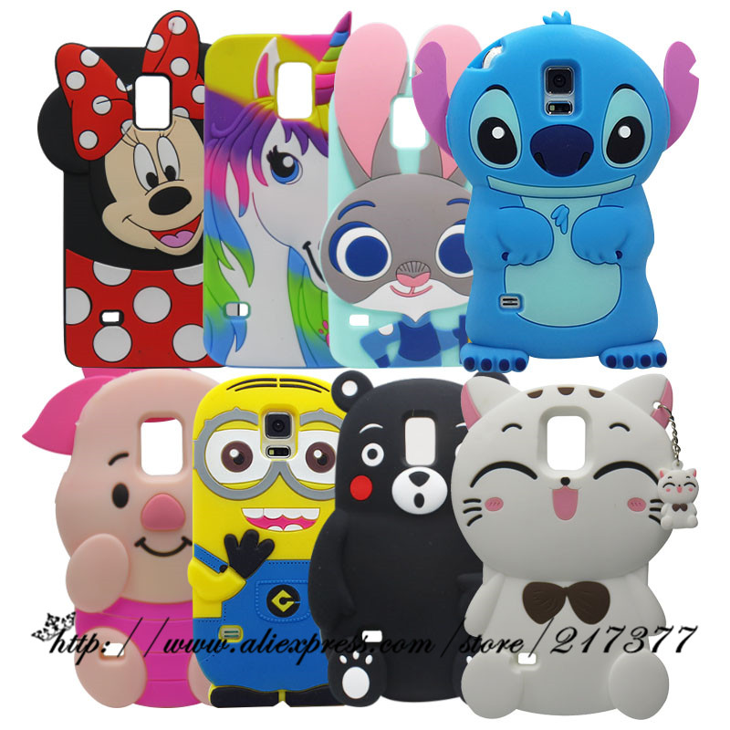 Phone Cases For Samsung Galaxy S5 i9600 3D Cartoon horse Cute multicolor unicorn Soft Silicone Case Cover For Samsung S5 Case
