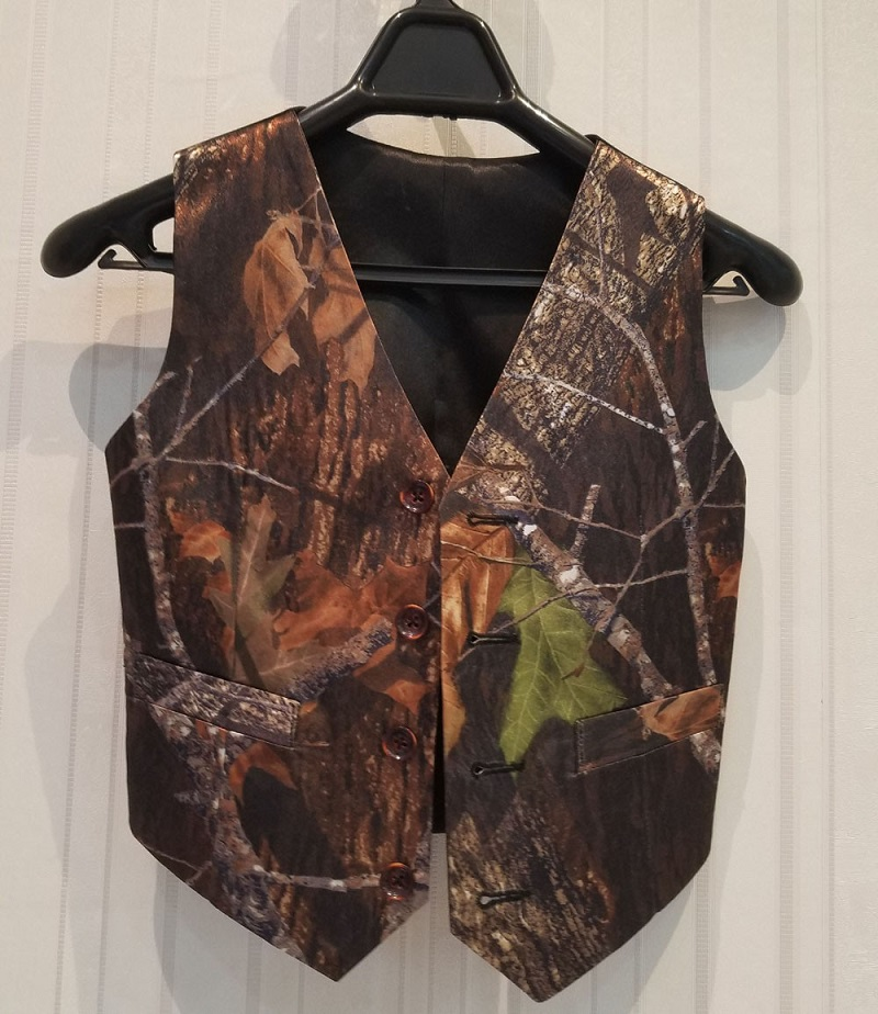 Real Photo Camo Vest For Boy's Formal Wedding Wear 2021 Custom Kids Formal Real Tree Party Wear Camouflage Vests