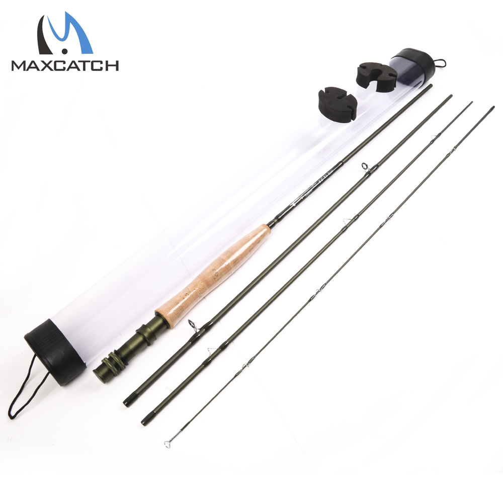 Maxcatch 6wt fly rod 9ft 4pcs fast action superfine carbon for Carbon fiber fishing rod